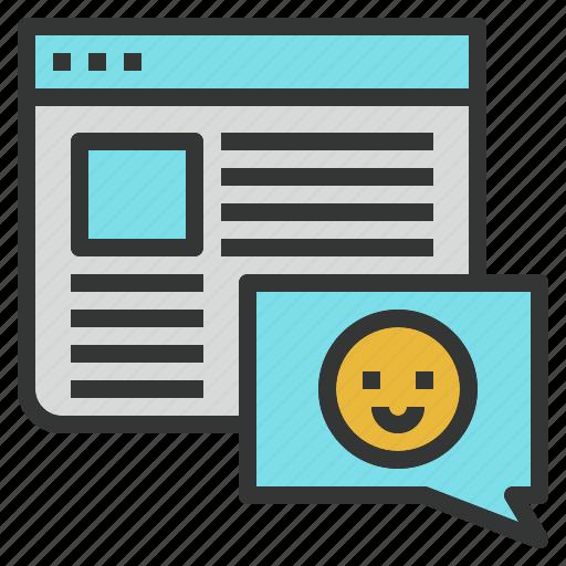 blog, commenting, design, seo, web icon