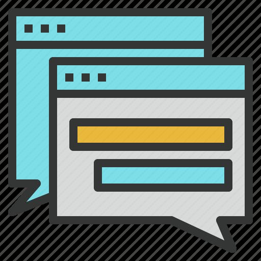 board, discussion, forum, seo, talk, web icon