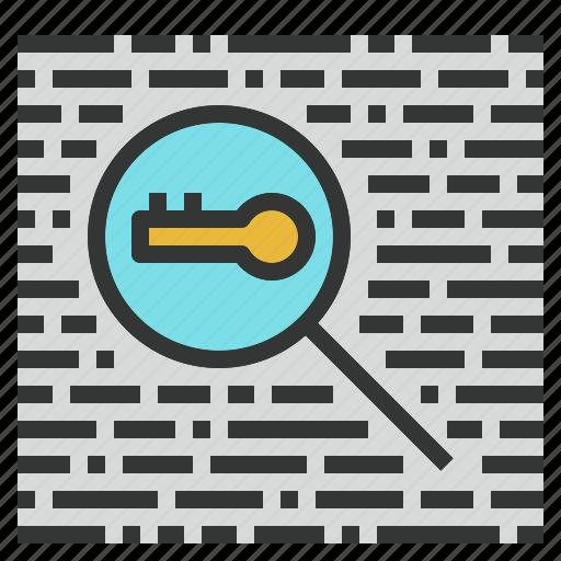 keyword, niche, research, search, seo, tool icon