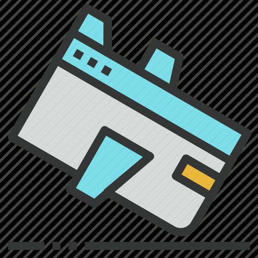 design, landing, page, web, website icon