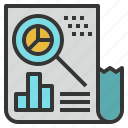annual, data, market, report, research, summary icon