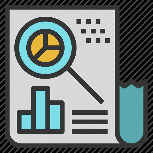 annual, data, market, report, research, summary icon