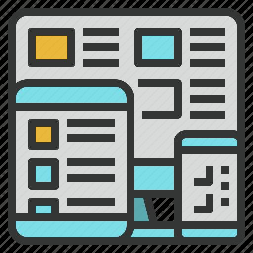 design, device, responsive, web, website icon
