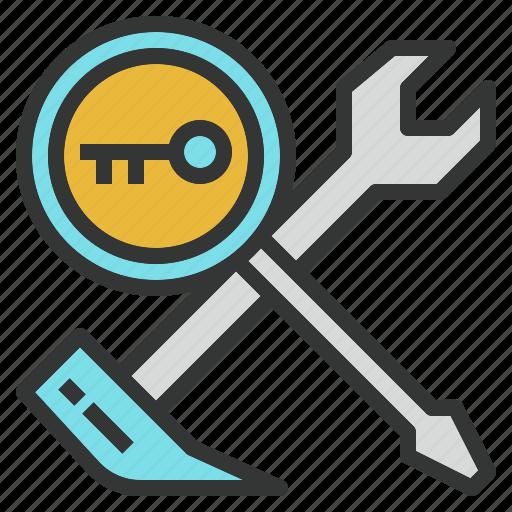 admin, indicator, key, seo, setting, tool, webmaster icon