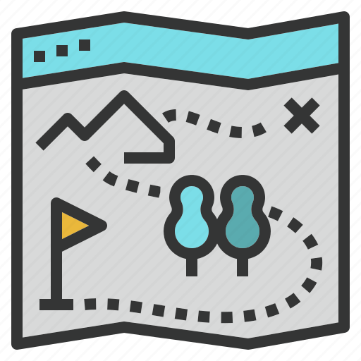 direction, guide, map, seo, site, treaser icon