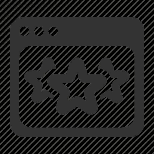 browser, page, rank, ranking, stars, window icon