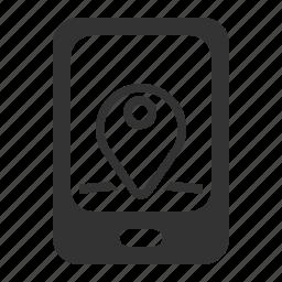 location, mobile, mobile tracker, pin icon
