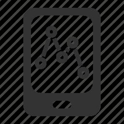 analytics, mobile, mobile sales, report icon