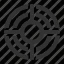aim, targeting, purpose, target icon