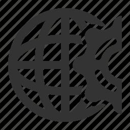 gear, network, settings, web optimization icon
