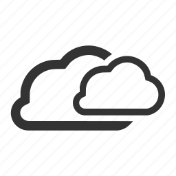 clouds, share, storage, weather icon