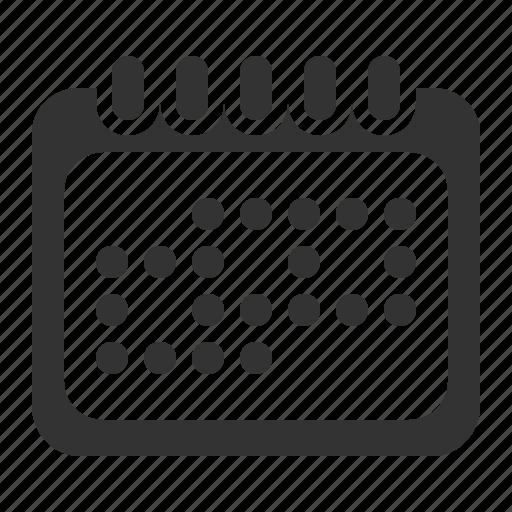 calendar, milestones, month, schedule icon