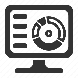 analytics, monitoring, reports, screen icon