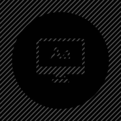 text, type, typography icon
