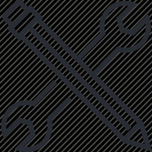 development, line, maintenance, services, thin, web icon