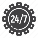 cogwheel, development, gear, seo, service, support, technical icon