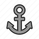 anchor, cruiseship, internet, link building, metal, nautical, seo icon