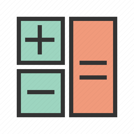 accounting, business, calculate, calculation, cost, mathematics, technology icon