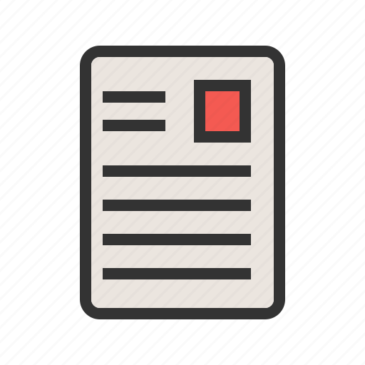 article, daily, document, page, print, publication, view icon