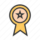 award, medal, position, ranking, ribbon, star