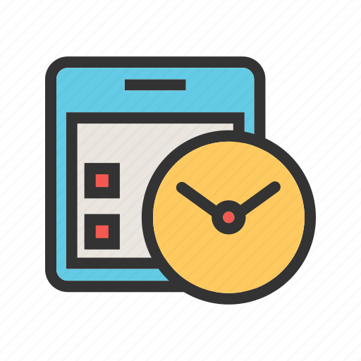 calendar, clock, date, event, plan, schedule, watch icon