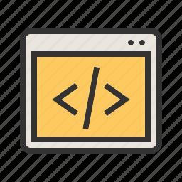code, coding, data, development, program, programming, web icon