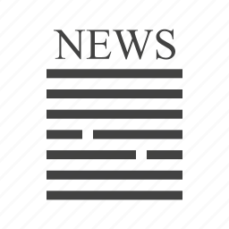 breaking, latest, news, newsletter, online, press, release icon