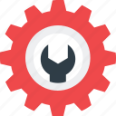 customize, gear, maintenance, repair, wrench icon