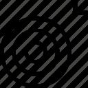 aim, dart, goal, target icon icon