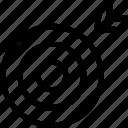 aim, dart, dart board, target icon