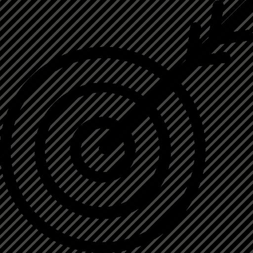 Aim, dart, dart board, target icon icon - Download on Iconfinder