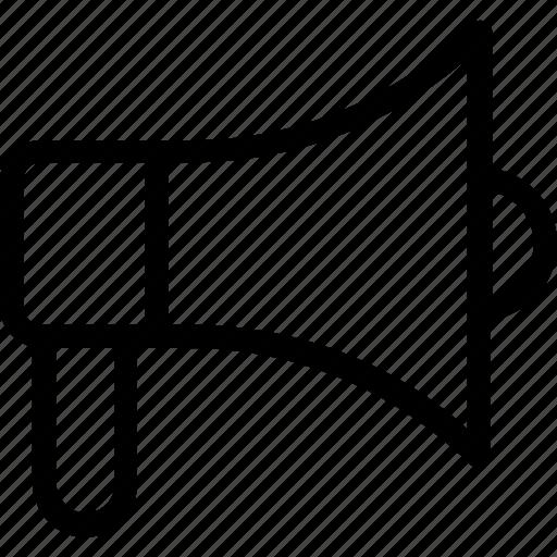 Bullhorn, hailer, loudspeaker, megaphone, speaker icon icon - Download on Iconfinder