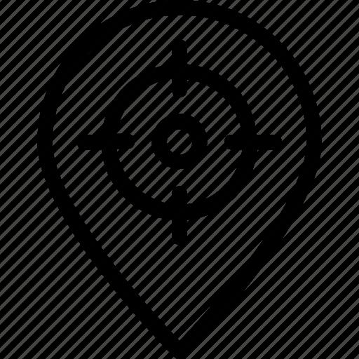 focus location, hit, location pin, location targeting, navigation icon icon
