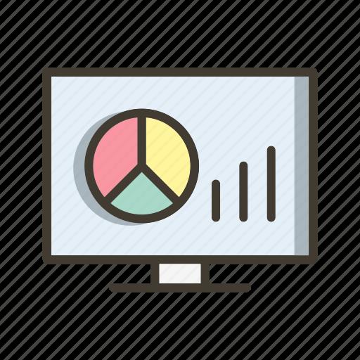 bar chart, graph, pie chart icon