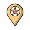 favourite, gps, location, mapping, pin, pinpoint icon