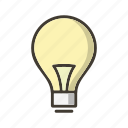 bulb, concept, idea, light icon
