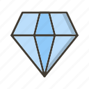diamond, gemstone, jewel, value icon