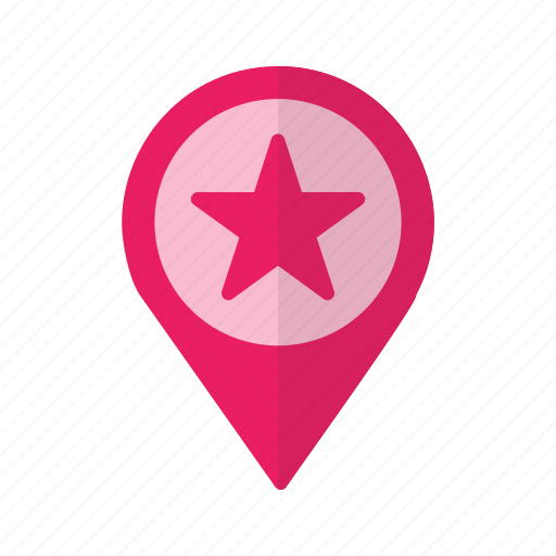 gps, location, map, pin, place, point, starred icon