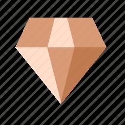 diamond, gemstone, jewel, value icon