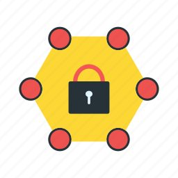 locked, network, password protected icon