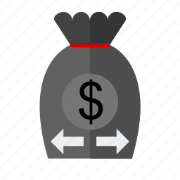 business, money, send, transfer icon