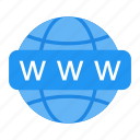 browser, globe, internet, network, online, search, web icon