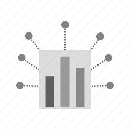 box, business, digital marketing, gear, lines, signals, spikes icon