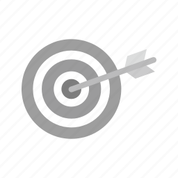 aim, arrow, market, marketing, strategy, target, targeting icon