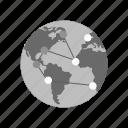glass, globe, internet, magnifier, magnifying, world, world map