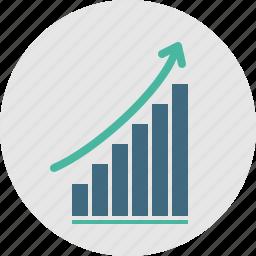 analytics, chart, graphicon, grow, report, sales, seo icon