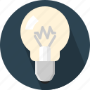 bright, bulb, idea, lamp icon