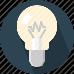 bright, bulb, idea, lamp icon