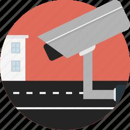 camera, monitoring, road, video icon