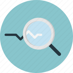 find, magnifier, monitoring, seach icon